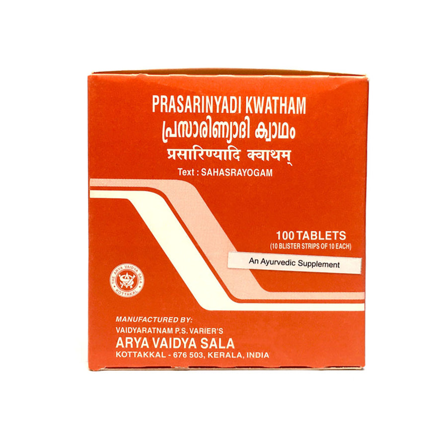 Prasarinyadi Kwatham Box, Ayurvedic Product manufactured by Arya Vaidya Sala, Kottakkal Ayurveda for USA Distribution