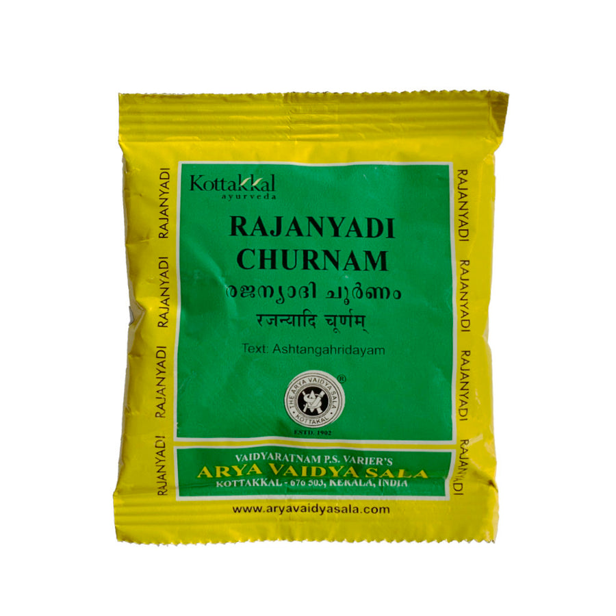 Rajanyadi Churnam Packet, Ayurvedic Product manufactured by Arya Vaidya Sala, Kottakkal Ayurveda for USA Distribution