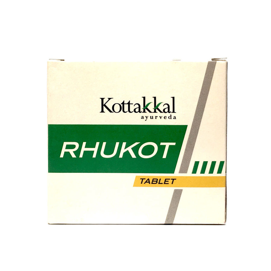 Rhukot Tablet Box, Ayurvedic Product manufactured by Arya Vaidya Sala, Kottakkal Ayurveda for USA Distribution