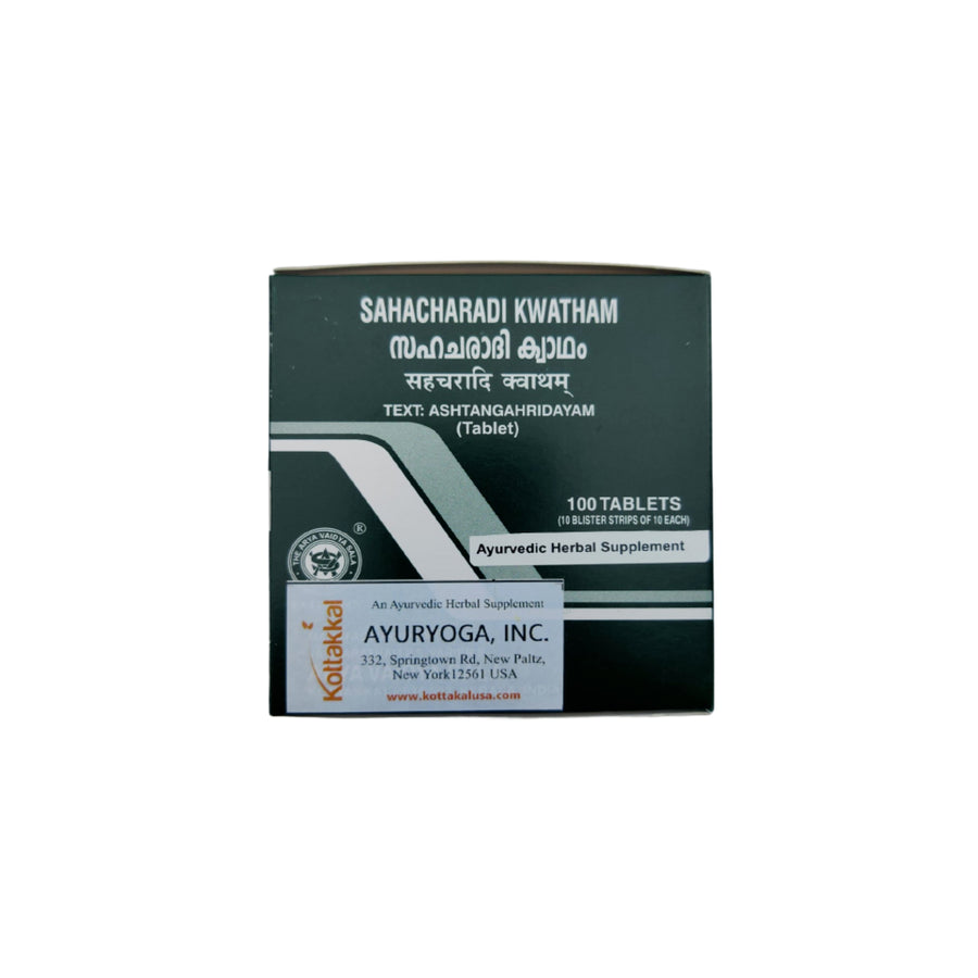 Sahacharadi Kwatham Box, Ayurvedic Product manufactured by Arya Vaidya Sala, Kottakkal Ayurveda for USA Distribution