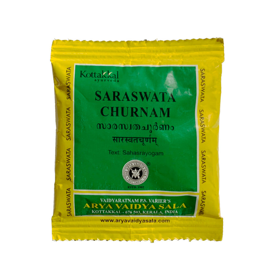 Saraswata Churnam Packet, Ayurvedic Product manufactured by Arya Vaidya Sala, Kottakkal Ayurveda for USA Distribution