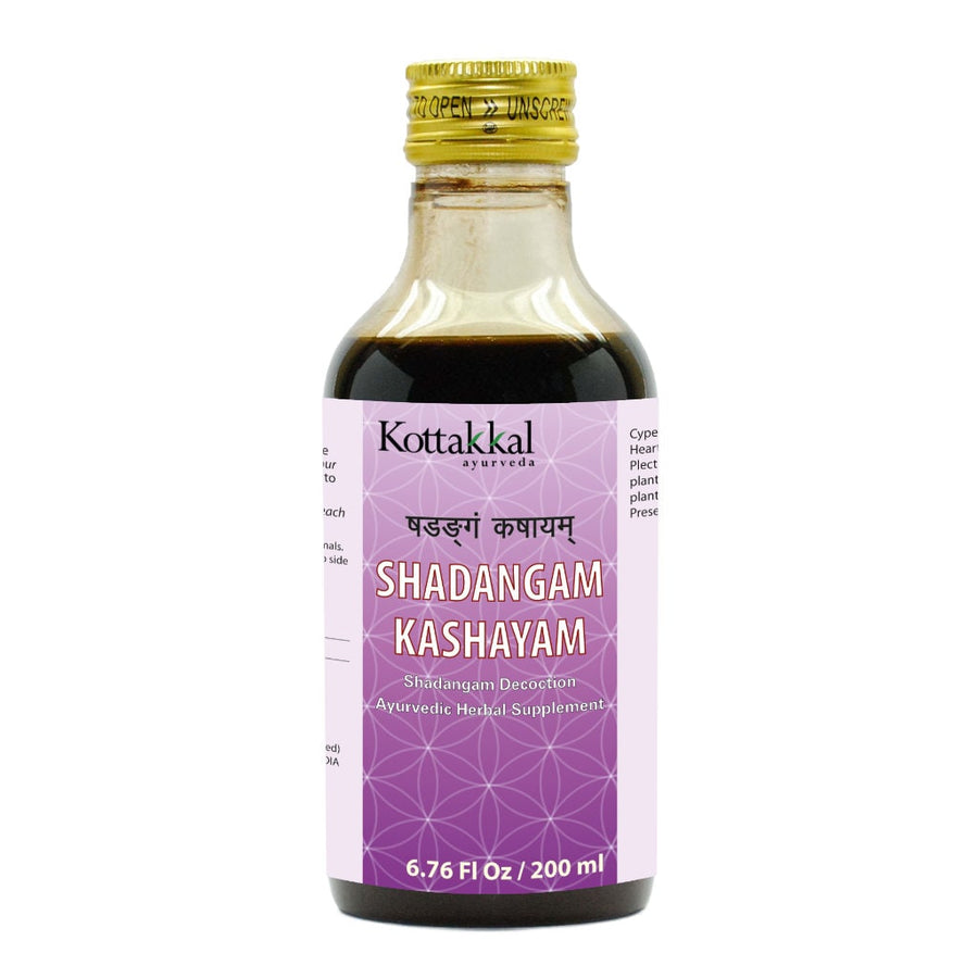 Shadangam Kashayam Bottle, Ayurvedic Product manufactured by Arya Vaidya Sala, Kottakkal Ayurveda for USA Distribution