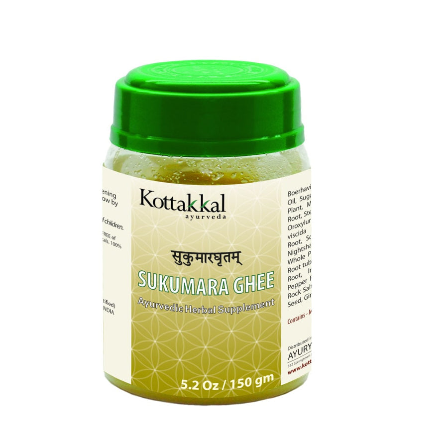 Sukumara Ghritam Bottle, Ayurvedic Product manufactured by Arya Vaidya Sala, Kottakkal Ayurveda for USA Distribution