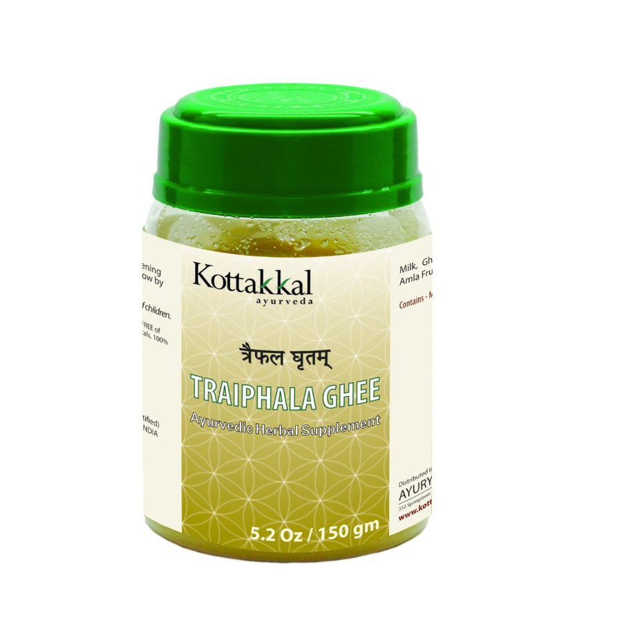 Traiphala Ghritam Bottle, Ayurvedic Product manufactured by Arya Vaidya Sala, Kottakkal Ayurveda for USA Distribution