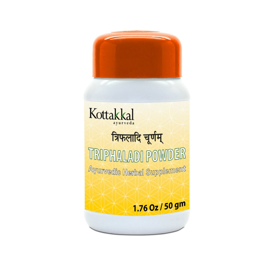 Triphaladi Churnam Bottle, Ayurvedic Product manufactured by Arya Vaidya Sala, Kottakkal Ayurveda for USA Distribution