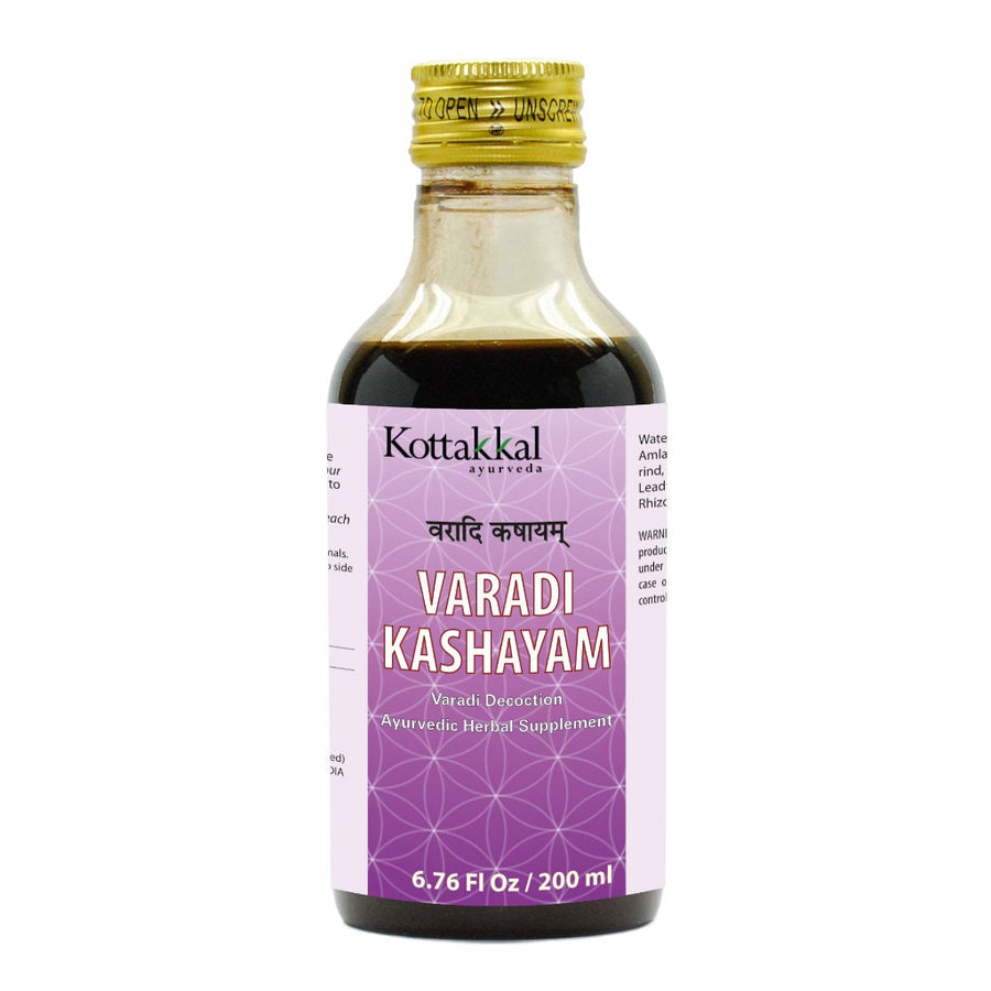 Varadi Kashayam Bottle, Ayurvedic Product manufactured by Arya Vaidya Sala, Kottakkal Ayurveda for USA Distribution