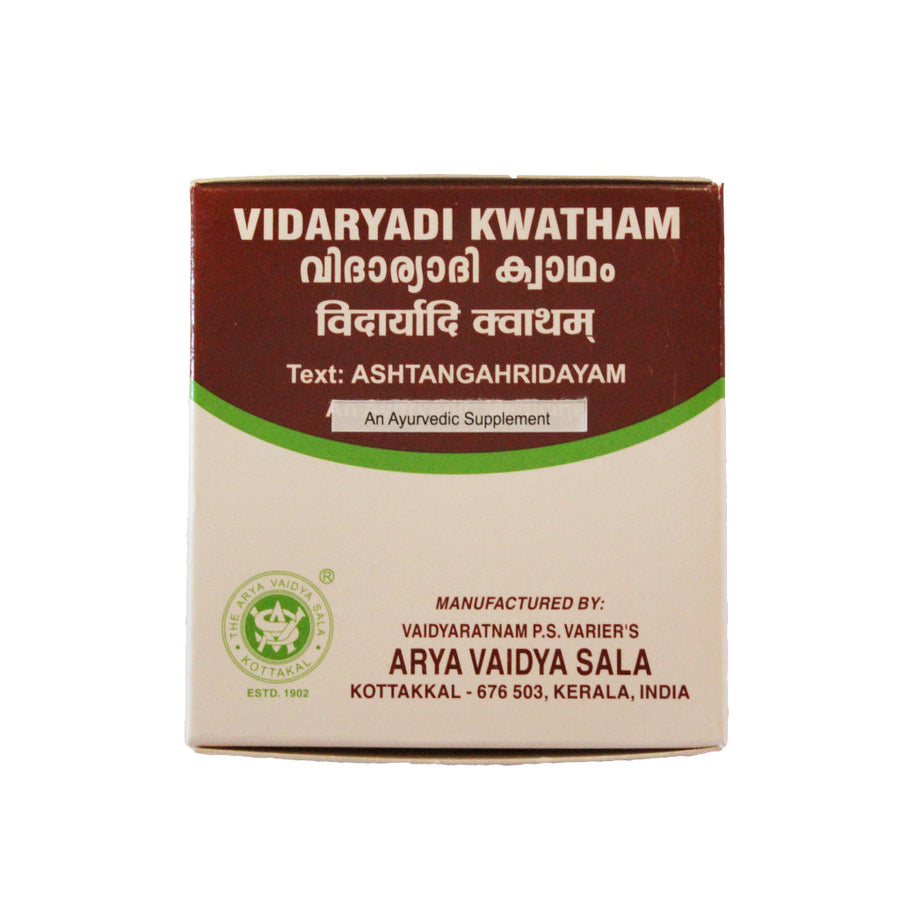 Vidaryadi Kwatham Box, Ayurvedic Product manufactured by Arya Vaidya Sala, Kottakkal Ayurveda for USA Distribution