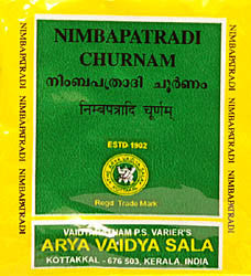Nimbapatradi Churnam Packet, Ayurvedic Product manufactured by Arya Vaidya Sala, Kottakkal Ayurveda for USA Distribution