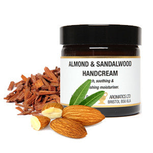 Almond and Sandalwood Handcream  (60ml Jar)