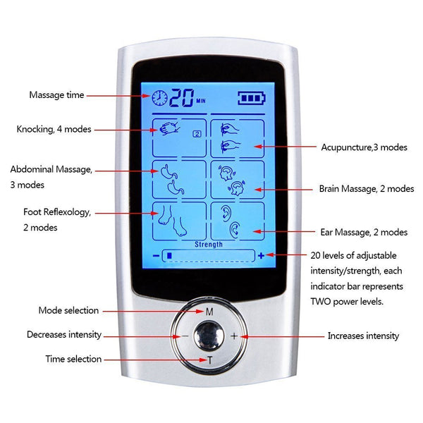 beautimate-16 Mode FDA Cleared TENS Unit Pulse Massager - beautimate