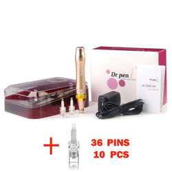 beautimate-Dr. Pen M5 Derma Pen Rechargeable Microneedle System for Anti Aging + 10 36 Pin Cartridges - beautimate