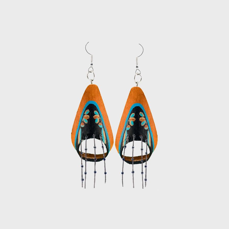 Bentwood Visor Earrings
