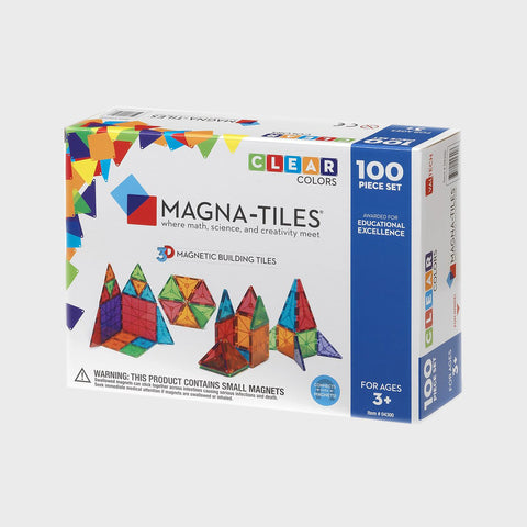 Magna-Tiles® Clear Colors 100-Piece Set