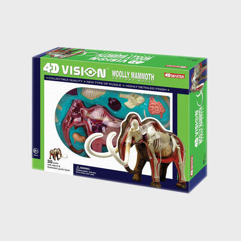 4D Woolly Mammoth Anatomy Model