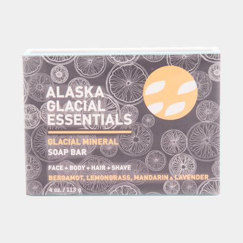 Glacial Mineral Soap Bar Face + Body + Shampoo + Shave