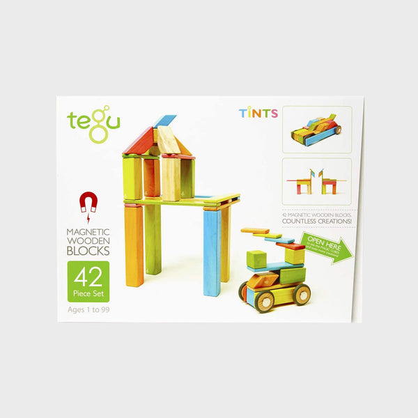 42 Piece Tegu Magnetic Wooden Blocks