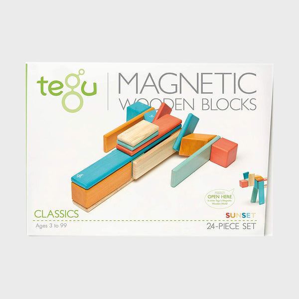 24 Piece Tegu Magnetic Wooden Blocks