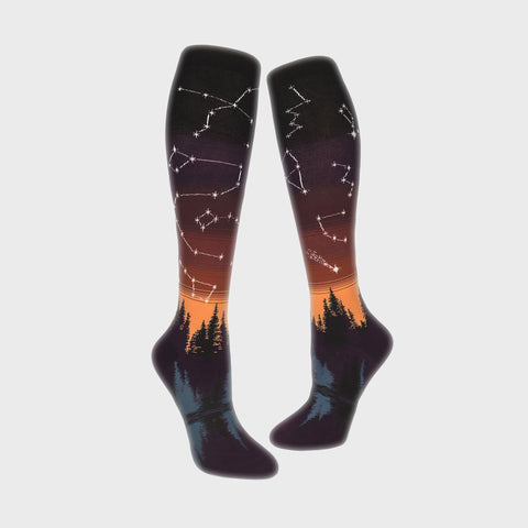 Women Socks - Constellations: Afterglow