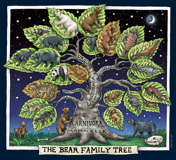 "T-Shirt: Adult ""Bear Family Tree"""