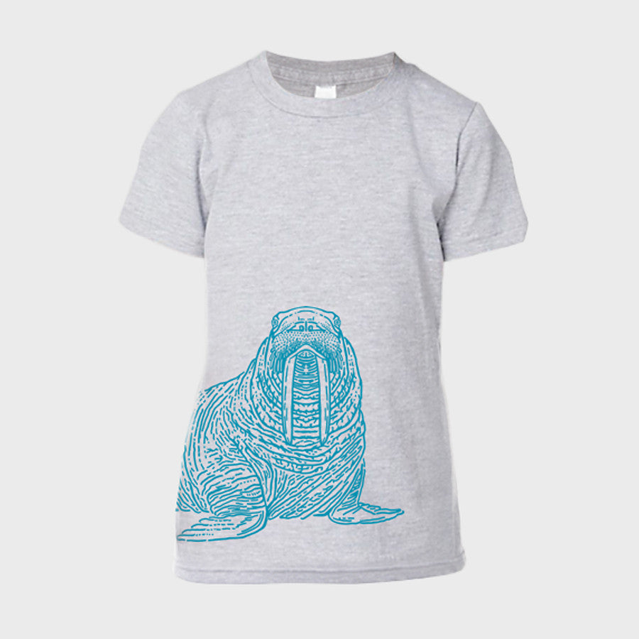 T-Shirt: Walrus, Youth , Heather Grey