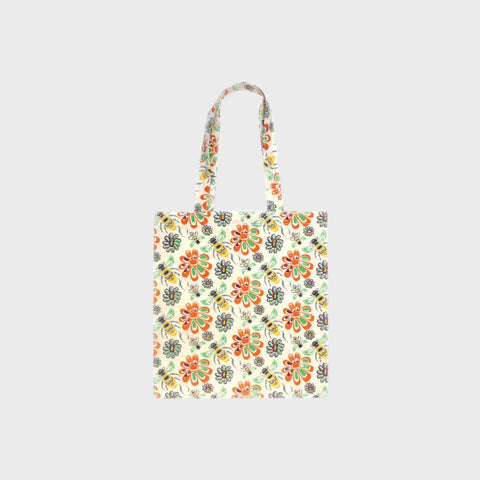 Cotton Eco Tote - Bee and Blossoms by Paul Windsor