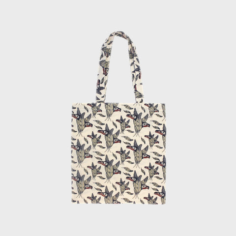 Cotton Eco Tote - Raven and Eagle Feathers by Keith