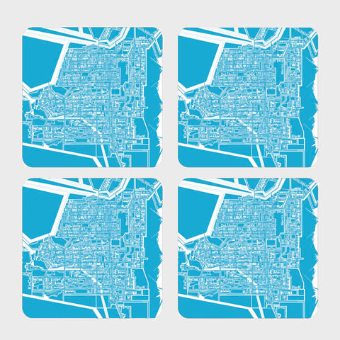 Anchorage Map Coasters