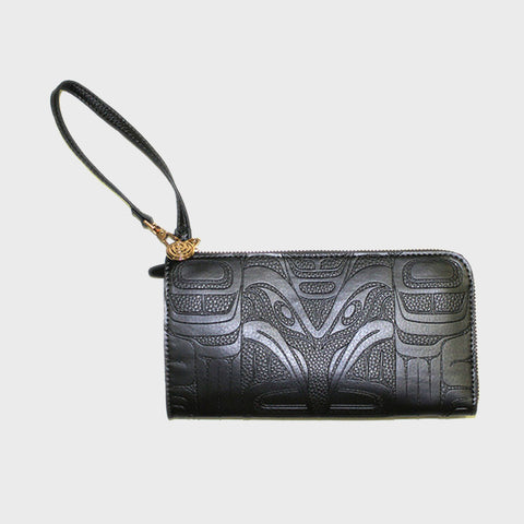 Embossed Fashion Clutch - Raven by Francis Horne Sr. - BLACK PEARL