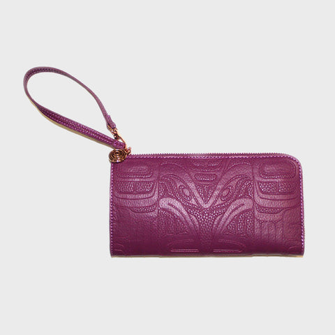 Embossed Fashion Clutch - Raven by Francis Horne Sr. - PURPLE ORCHID