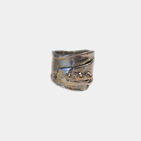 Reticulated Ring with Gold Accents