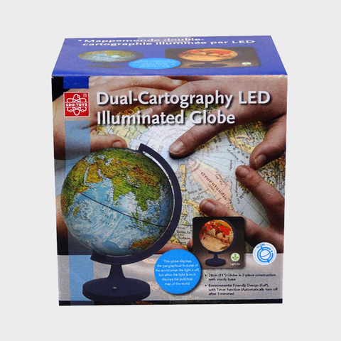 Dual-Cartography Illuminated Globe