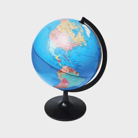 "11"" Desktop Political Globe"