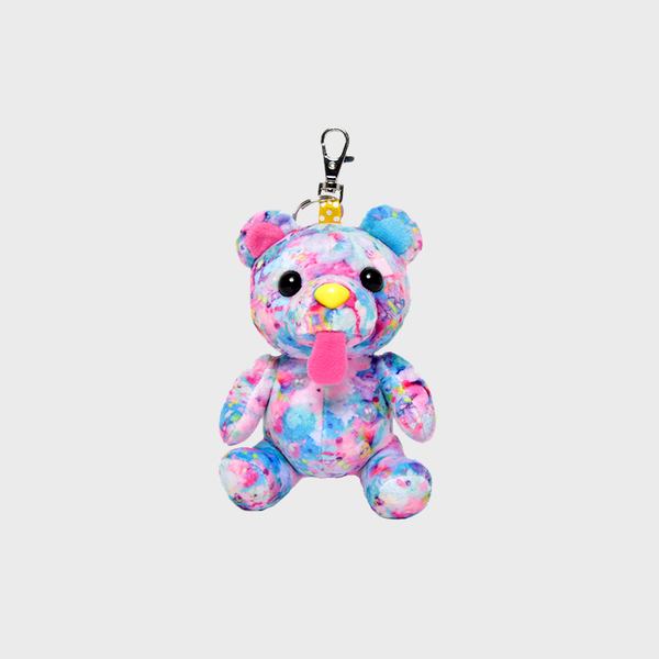 Colorful Rebellion Bear Keychain