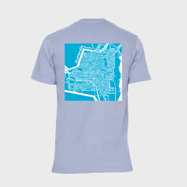 T-Shirt: Anchorage Map, Youth, Light Grey