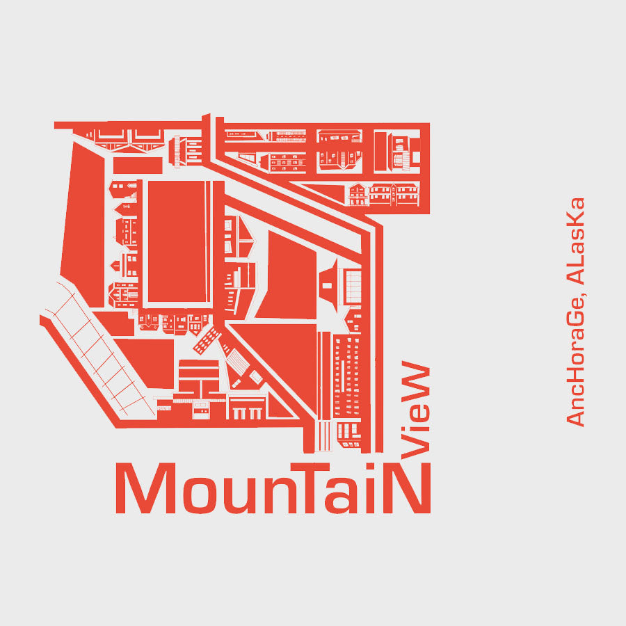Map Wood Plaque: Mountain View