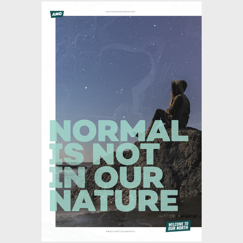 Welcome to Our North Poster - Normal Is Not In Our Nature
