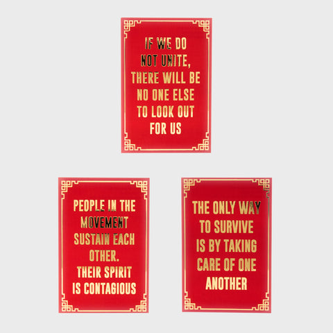 Red Envelope Postcard Bundle