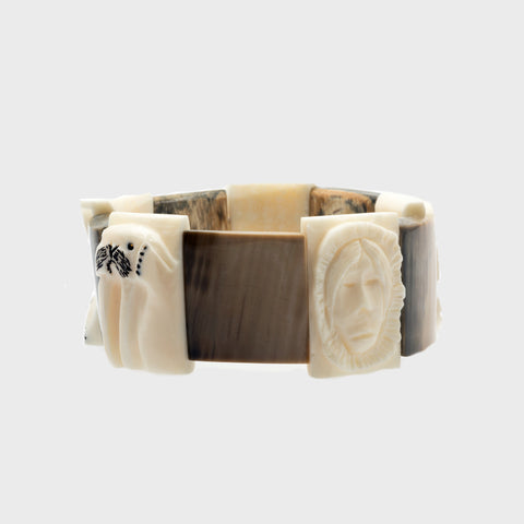 Ivory Hunter and Animals Bracelet