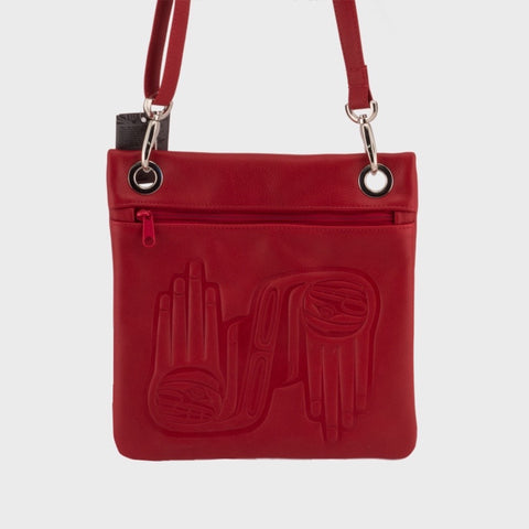 Embossed Leather City Bag