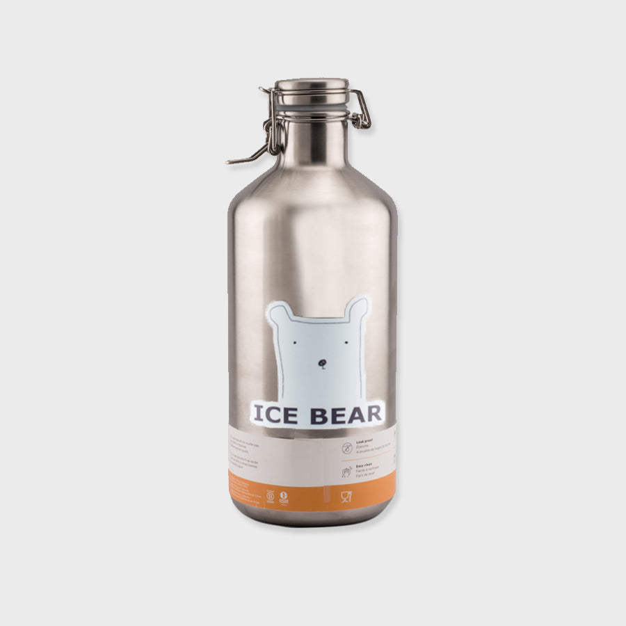 Brushed Stainless Insulated Growler 64oz