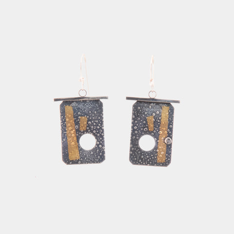 Reticulated Silver Earrings - Large