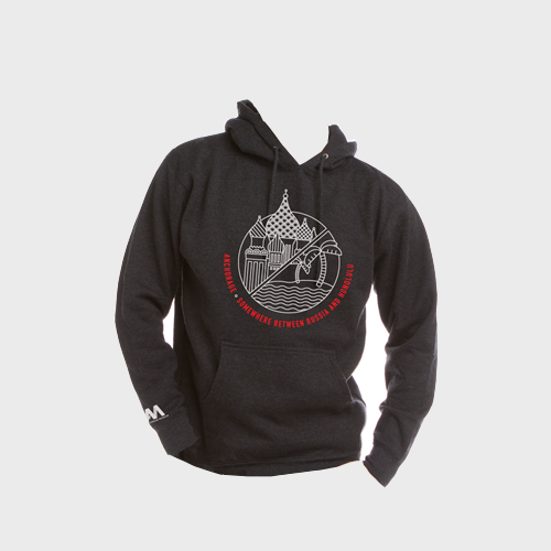 Pullover Hoodie: Somewhere Between Russia and Honolulu, Adult