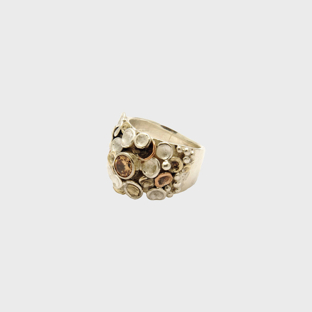 Pebbles on the Beach Ring - Peridot