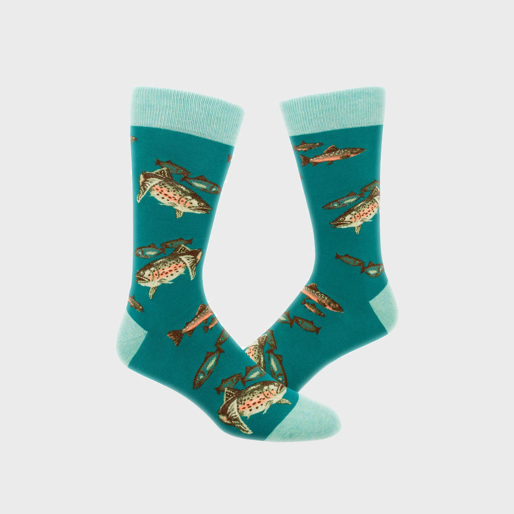 Men's Socks - Trout Fishing