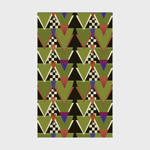 "Charles Rennie Mackintosh's Triangle Pattern 3 x 5"" Notepad"