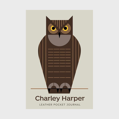 Charley Harper Leather Pocket Journal