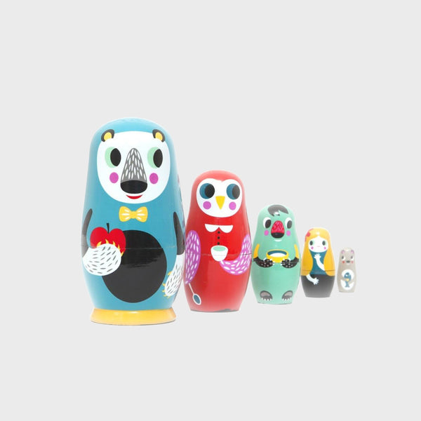 Nesting Dolls in the Woods, 5 Dolls