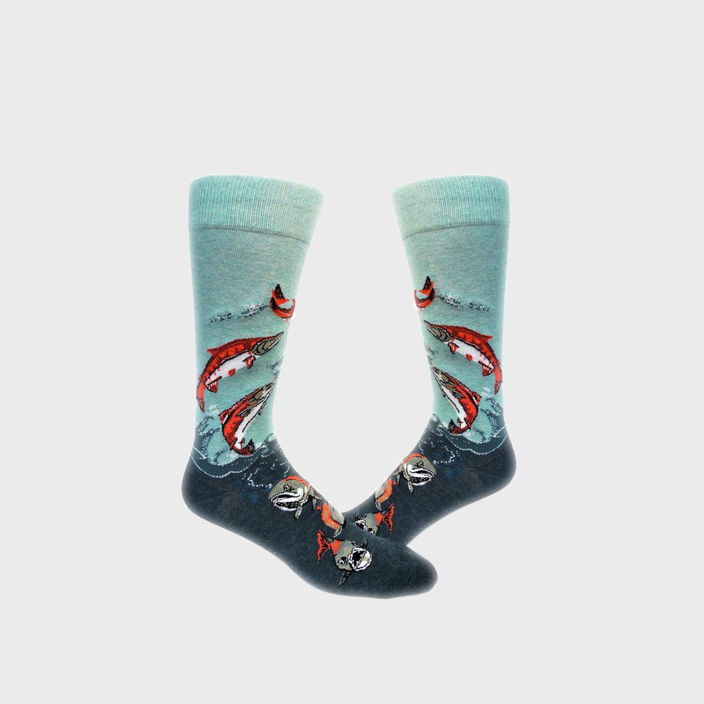 Women's Knee Socks - Sockeye Salmon