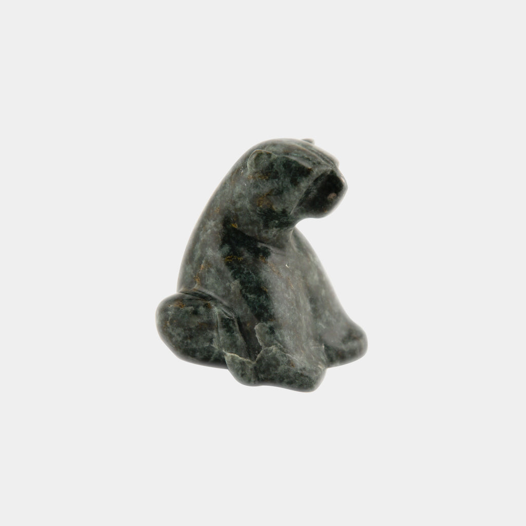 Soapstone Sitting Bear - 4""