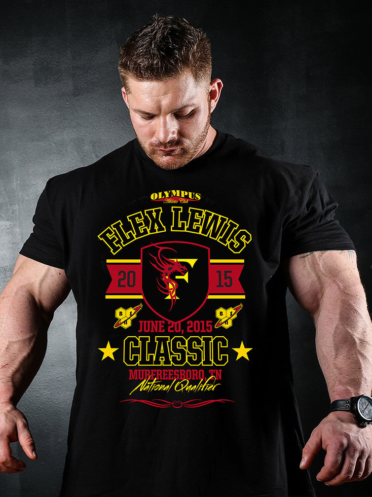 Official 2015 Flex Lewis Classic Event Shirt, Heavy Cotton